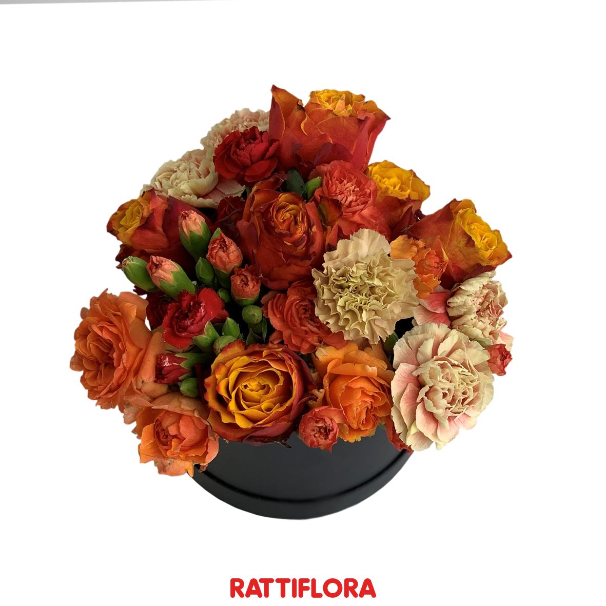 Fresh Flora Box Rattiflora composizione centro tavola